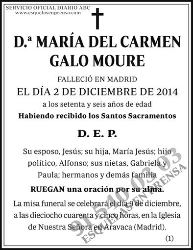 María del Carmen Galo Moure